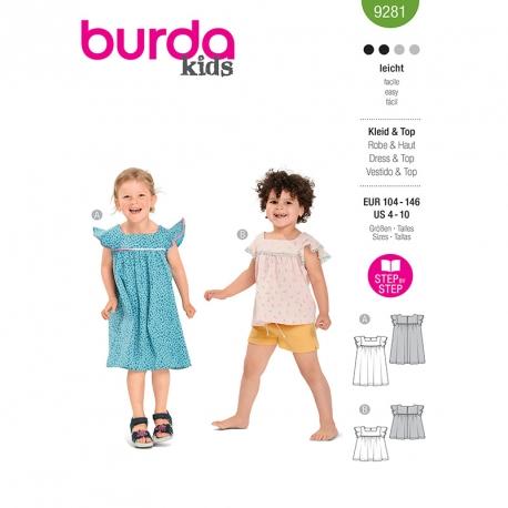 Robe, top, Burda 9281