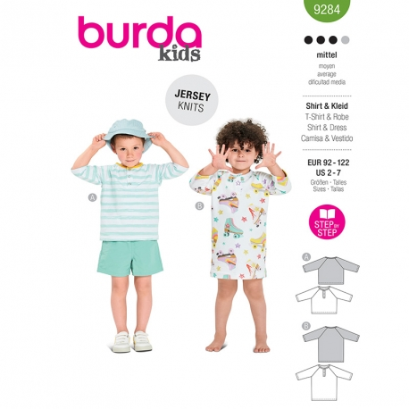 T-shirt, robe, Burda 9284