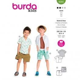 Chemise + short, Burda 9285