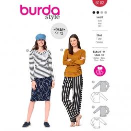 T-shirt, Burda 6102