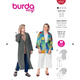 Veste blouse, Burda 6107