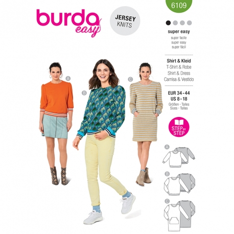 Sweat-shirt, Burda 6109