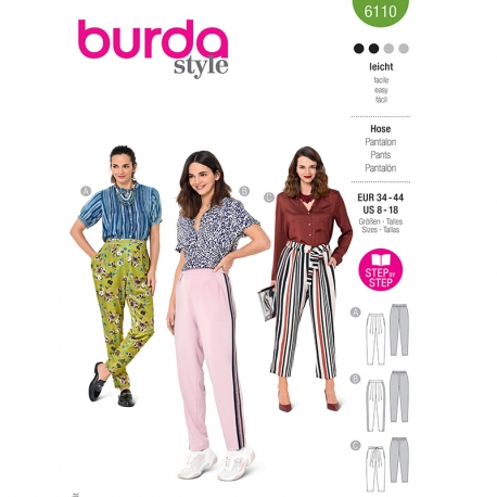 Pantalon, Burda 6110
