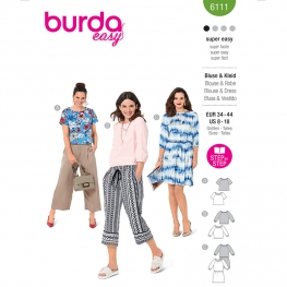 Blouse, Burda 6111
