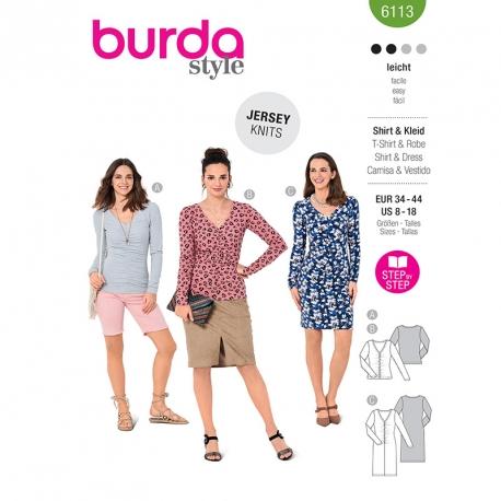 T-shirt, Burda 6113