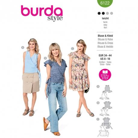 Blouse, Burda 6122
