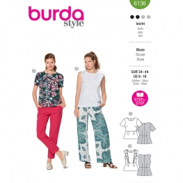 Blouse, Burda 6136