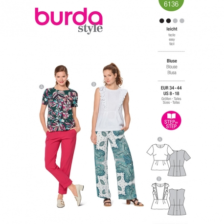 Blouse, Burda 6136