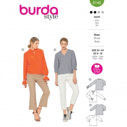 Blouse, Burda 6146