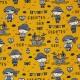 Tissu Jersey Pirates - Moutarde