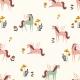 Tissu Jersey Licornes Ailées - Blanc cassé