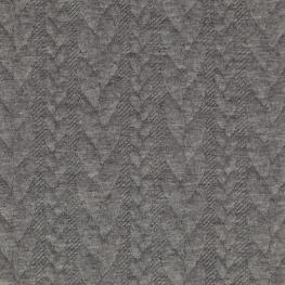 Tissu Jersey Torsades - Gris chiné