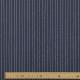 Tissu Rayures Argentées - Marine & Argenté