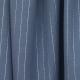 Tissu Rayures Argentées - Bleu jean & Argenté