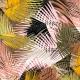 Tissu Viscose Feuilles de Palmier - Multicolore