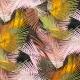 Tissu Viscose Feuilles de Palmiers - Multicolore