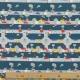 Tissu Popeline Sur la Route - Bleu marine