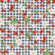 Tissu Coton Cretonne Fruits Rouges - Bleu & Rouge