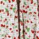 Tissu Coton Cretonne Fruits Rouges Vichy - Lin