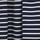 Tissu Jersey Marinière - Bleu marine & Blanc
