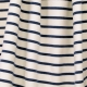 Tissu Jersey Marinière - Blanc & Bleu marine