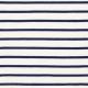 Tissu Jersey Marinière - Blanc cassé & Marine