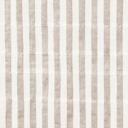 Tissu Coton Froncé Rayé - Blanc & Gris