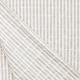 Tissu Coton Froncé Rayé - Blanc & Beige