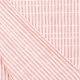 Tissu Coton Froncé Rayé - Blanc & Rose