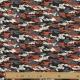 Tissu Jersey Camouflage - Noir & Orange