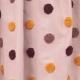 Tissu Coton Brodé à Pois - Rose