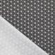 Tissu Coton Enduit Poules étoiles asanoha - Noir & Blanc