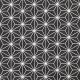 Tissu Coton Enduit étoiles asanoha - Noir & Blanc