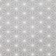 Tissu Coton Enduit étoiles asanoha - Gris & Blanc
