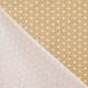 Tissu Coton Enduit étoiles asanoha - Moutarde & Blanc