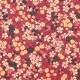 Tissu Coton Enduit Fleurs de Cerisier - Lie de vin