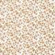 Tissu Popeline Bio Fleurs Julie - Orange corail
