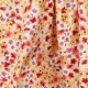 Tissu Coton Enduit Fleurs de Cerisier - Ivoire