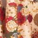 Tissu Coton Enduit Ikebana - Ivoire