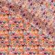 Tissu Coton Cretonne Hiboux d'été - Saumon & Multicolore