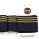 Tissu bord côte doré Poppy - Marine & Doré