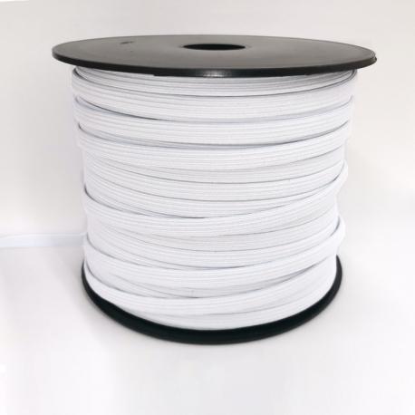 Ruban élastique au mètre - 7mm Blanc