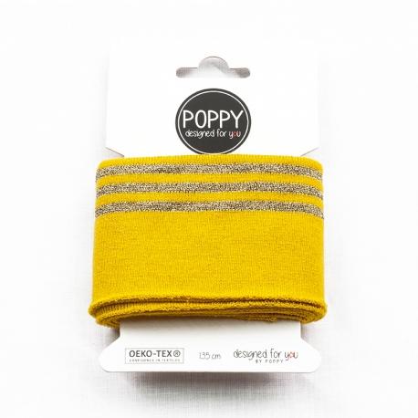 Tissu bord côte doré Poppy - Jaune & Doré