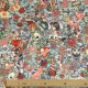 Tissu Velours ras Tatouage - Multicolore