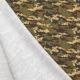 Tissu Jersey Camouflage - Noir & Vert kaki