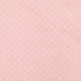 Tissu Coton Plumetis double Uni - Vieux Rose