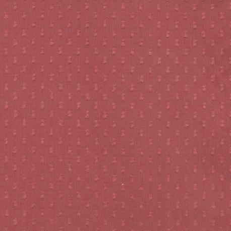 Tissu Coton Plumetis double Uni - Rouge terracotta