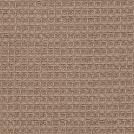 Tissu nid d'abeille double face - Marron moyen