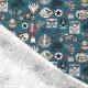 Tissu Coton Cretonne Motard - Bleu