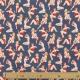Tissu Coton Cretonne Pin-up - Bleu marine